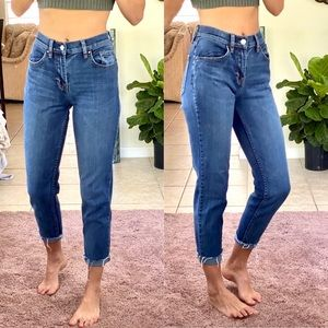 Pacsun ankle cropped dark wash jeans